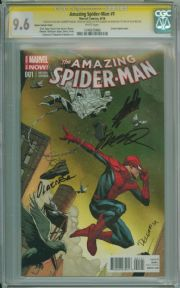 Amazing Spider-man #1 Opena Variant 1:75 CGC 9.6 Signature Series Signed x4 Stan Lee Marvel comic
